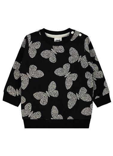 Civil Baby Civil Baby Kiz Bebek Sweatshirt 6-18 Ay Siyah Civil Baby Kiz Bebek Sweatshirt 6-18 Ay Siyah Siyah